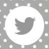 grey white polka dot twitter social media icon